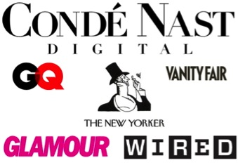 1. Conde Nast: Conde Nast is the magazine headquarters of the world. They own a large arrangement of publications, from GQ to Golf world to Vogue to Style.com. They have 18 magazines in United States, 27 websites and more then 50 apps. To See more of their company click the link below