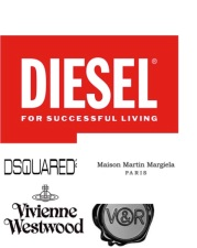 6.Diesel: Diesel, which is usually regarded, as a small brand owns a big amount of high fashion houses like: Dsquared2, Maison martin Margiela, Vivienne Westwood, Marc Jacobs's menswear. and more.
