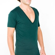 9.Deep V-neck tees Even if you have the line in the chest to prove that your muscular it is still a complete no-no. Seek attention, never beg.