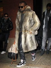 10.Full Fur coat: Its one thing when you're a cocky rapper, but in real life unless you're a pimp. ..Never! Fur on the lapels of a coat looks stylish though.